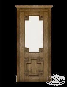 Дверь из массива модель М-18 под стекло