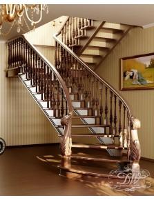 Лестница из массива дерева 1