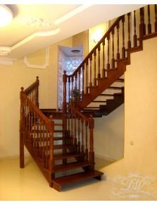 Лестница из массива дерева 12