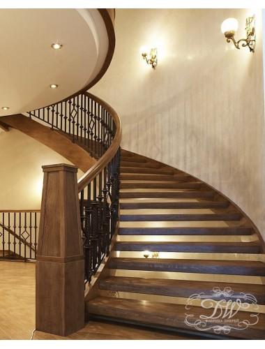 Лестница из массива дерева 11