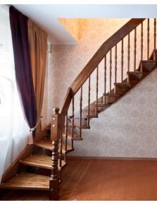 Лестница из массива дерева 10