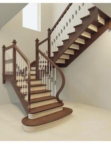 Лестница из массива дерева 2