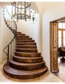 Лестница из массива дерева 7