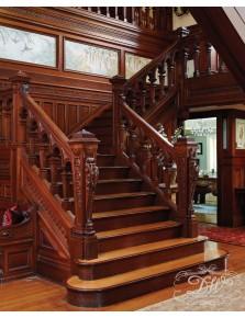 Лестница из массива дерева 8